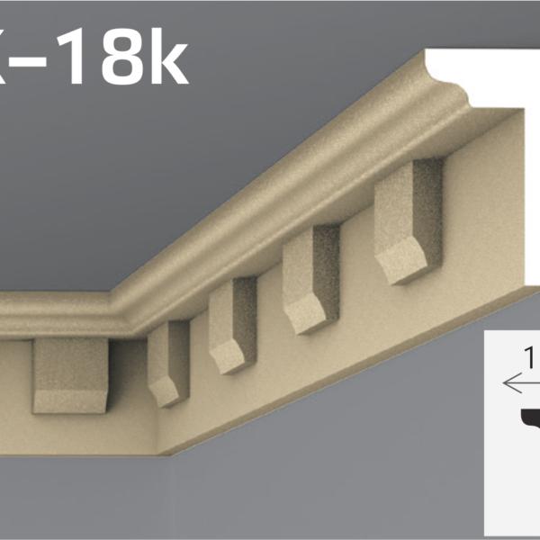 Підпокрівельний карниз 18,5х10см Yum YK-18k