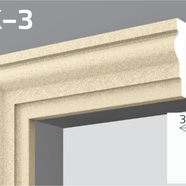 Фасадний молдинг EPS 50кг 12,5х3,8см YUM YK-3