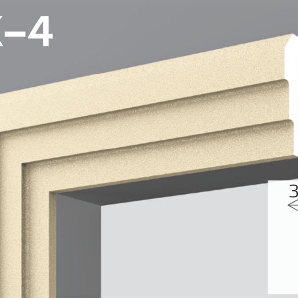 Фасадний молдинг EPS 50кг 13,8х3,1см YUM YK-4