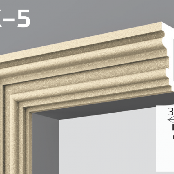 Фасадний молдинг EPS 50кг 10,3х3,8см YUM YK-5