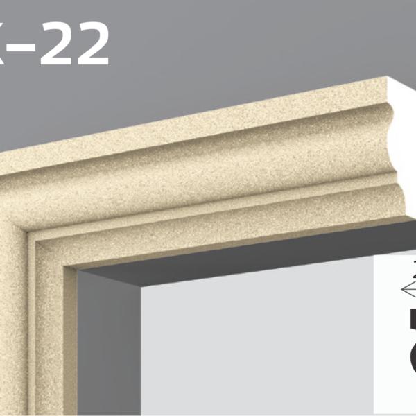 Фасадний молдинг EPS 50кг 4,7х2см YUM YK-22